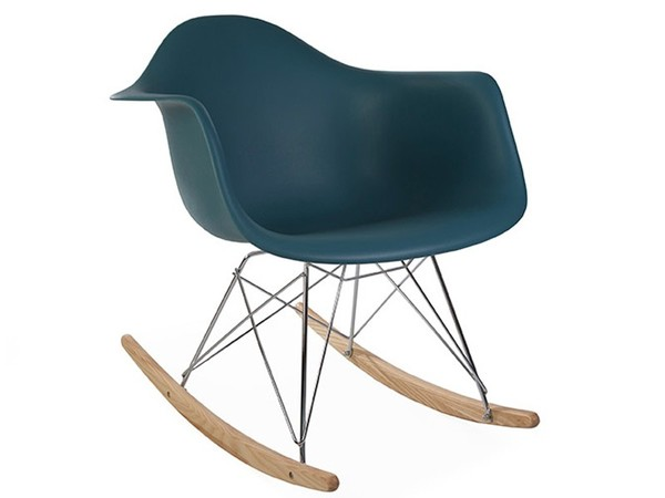 Eames rocking chair RAR - Blu verde