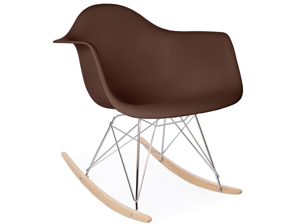Eames rocking chair RAR - Marrone